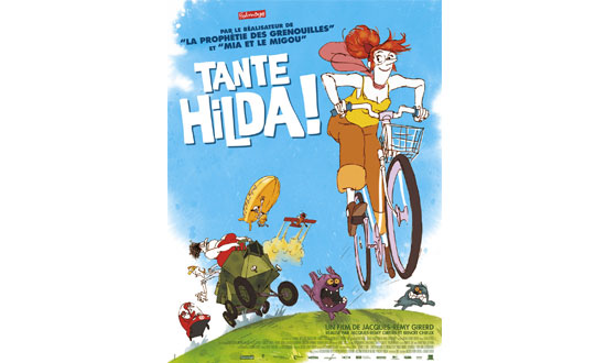 affiche du dessin animé tante hilda